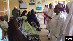 Pregnant women receiving health talks in Kaduna, Nigeria. (VOA / S. Elijah)