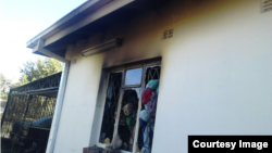 Part of the house that was gutted by fire. (Courtesy Image)