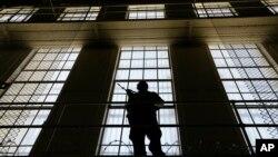 Bloc est du couloir de la mort à la prison d'État de San Quentin, en Californie, le 16 août 2016.