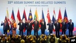 東南亞國家聯盟(東盟)第33屆峰會星期三在新加坡開幕