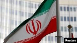 國際原子能機構在奧地利維也納的總部前的伊朗國旗(2019年3月4日)