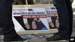 Protesti u Beogradu protiv susreta predsednika Srbije Tomislava Nikolića i predsednice Kosova Atifete Jahjaga
