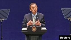 Katibu mkuu wa umoja wa mataifa Ban Ki- Moon.