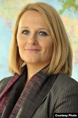 Bà Maja Kocijancic, nữ phát ngôn viên của người phụ trách chính sách đối ngoại của Liên hiệp châu Âu