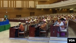 Myanmar's lower house in session on March 10, 2016. (S. Herman/VOA)