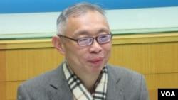 台灣師範大學政治系教授范世平 (美國之音張永泰拍攝)
