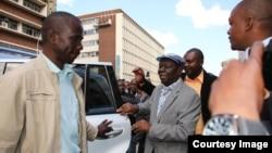 Morgan Tsvangirai and members of the MDC-T