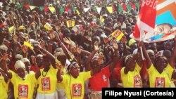 Comício de apoio a Filipe Nyusi em Morrumbala na provincia da Zambézia