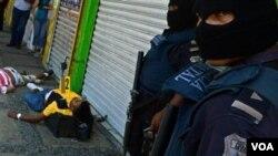 El presidente Felipe Calderón ha emplazado a la policía federal y fuerzas de seguridad en Veracruz.