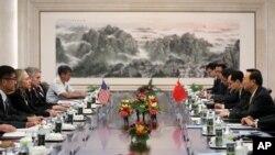 4일 중국 베이징에서 열린 미-중 외교장관 회담.