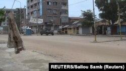 Ulice gvinejske prijestonlice u danu kada je objavljeno da je u toj državi izvršen prevrat.