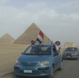 Patriotism is on full display, as the pyramids reopen.