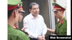 Dương Chí Dũng, cựu Chủ tịch HĐQT Vinalines bị kết ản tử hình vì tội tham ô và cố ý làm trái. Ảnh chụp màn hình trang web vnexpress.net.