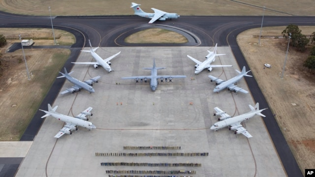 Máy bay tại căn cứ không quân Pearce gần thành phố Perth, Australia.