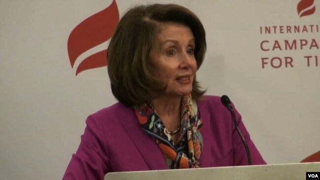 Nancy Pelosi, líder de la minoría demócrata en la Cámara de Represenantes de EE.UU.