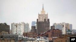 Москва. В центре – здание МИД РФ (архивное фото)