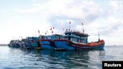 Kapal-kapal nelayan Vietnam di provinsi Quang Ngai (foto: dok).
