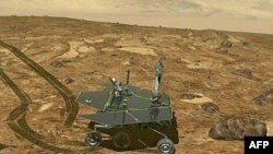 امریکی خلائی ادارے ناسا کی جانب سے مریخ پر اتاری جانے والی روبوٹک گاڑی اپرچونٹی کی ایک آرٹسٹک تصویر، فائل