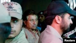 巴基斯坦前總統穆沙拉夫4月20日首被扣押。(資料照片)