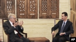 Lakhdar Brahimi Ariko Abonana na Prezida wa Syria, Bashar al-Assad