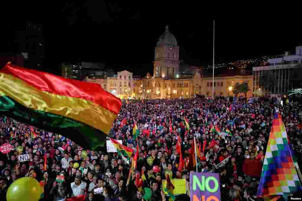 تظاهرات علیه مورالس رئیس جمهوری بولیوی، در لاپاز پایتخت این کشور.