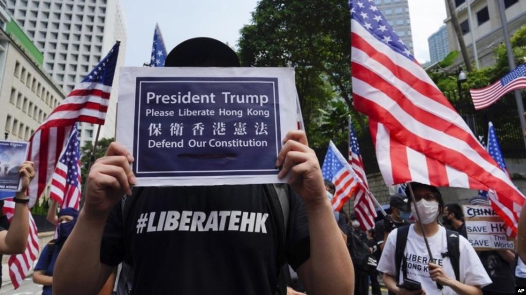 Người biểu tình ở Hong Kong hôm 8/9.