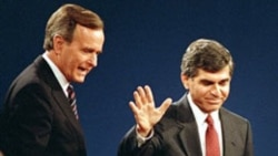 George Bush and Massachusetts Governor Michael Dukakis at their final debate
