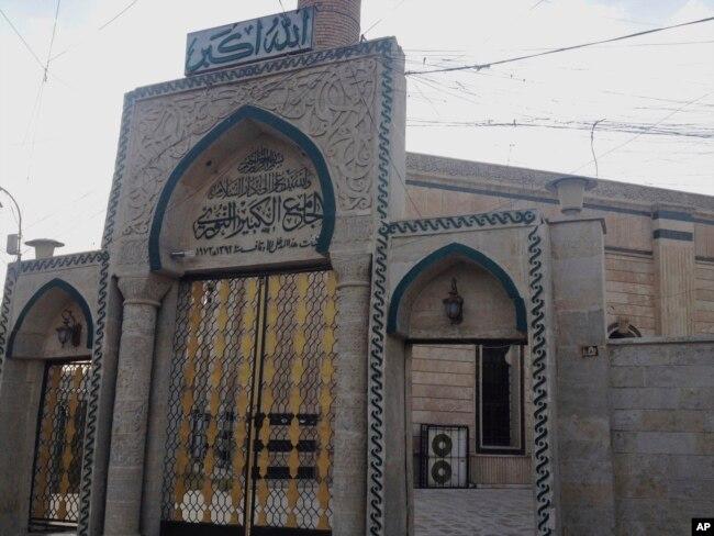 Đền thờ al-Nuri nhìn từ mạn Bắc thành phố Mosul ngày 6/7/2014.