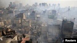 Hỏa hoạn ở thủ đô Manila, Philippines, ngày 8/2/2017.