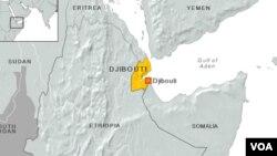 Peta negara Djibouti di Afrika (foto: ilustrasi).