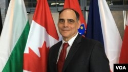 傳統基金會副總裁傑伊·卡拉法諾(James Jay Carafano) (美國之音黎堡2019年4月3日攝)