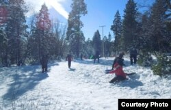Tuyết đổ nhiều trên vùng Lake Tahoe (ảnh Bùi Văn Phú)