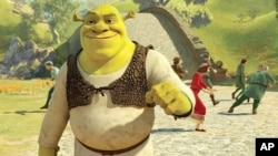 "In the alternate reality of ""Shrek Forever After,"" Shrek is on top of the world to find that once again the villagers are scared of him"