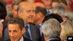 각국 대표들을 환영하는 사르코지 프랑스 대통령