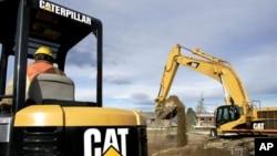 FILE - Caterpillar machinery