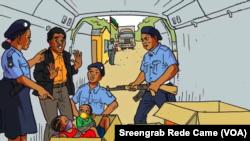 Imagem de cartaz contra o abuso de crianças (Rede Came, Moçambique)