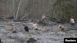 بزرگترین چالش امدادگران، جستجو در گل و لایی است که تا کمرشان می رسد - اوسو، ۲۷ مارس