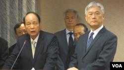 台灣相關官員在立法院就肯亞案接受質詢(右一為陸委會主委夏立言)