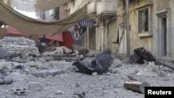 В центре города. Хомс, Сирия