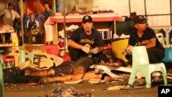 La explosión tuvo lugar en un mercado nocturno en el centro de Davao y coincidió con la presencia del presidente Rodrigo Duterte.