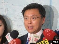 台湾执政党民进党立委赵天麟 ( 美国之音张永泰拍摄 )