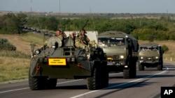 """Se informó que Ucrania destruyó una parte """"significativa"""" de la columna militar rusa."""