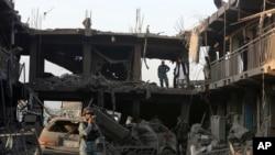 아프가니스탄 수도 카불 자살폭탄테러현장