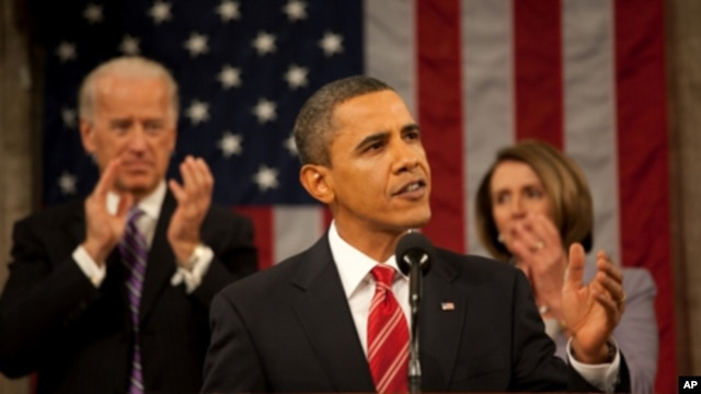President Obama delivering State of Union address, 27 Jan 2010