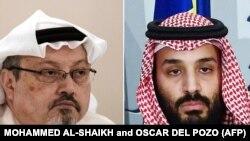 Ảnh phối hợp: Nhà báo Jamal Khashoggi (trái) và Thái tử Ả Rập Xê-út (phải).