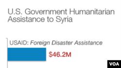 美國向敘利亞提供的人道援助數字(USAID美國國際開發署圖片)