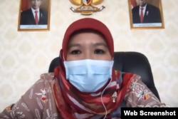 Juru Bicara Vaksinasi Covid-19 dari Kementerian Kesehatan (Kemenkes) Siti Nadia Tarmizi. (Foto: VOA)