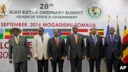 Abakuru b'ibihugu bigize umuryango IGAD mu nama muri Somaliya