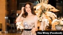 Ca sĩ Hòa Minzy. Ảnh: Facebook Hòa Minzy