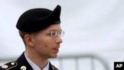 Le soldat Bradley Manning, le 21 mai 2013, à Fort Meade dans le Maryland aux USA (AP Photo/Patrick Semansky)